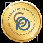 Certified Professional Organizer medallion