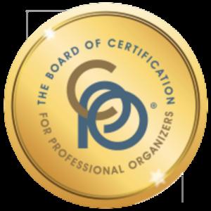 Certified Professional Organizer badge