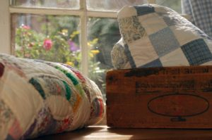 quilts and crate