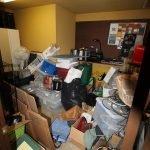 hoarded basement room before