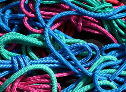 colorful tangled ropes