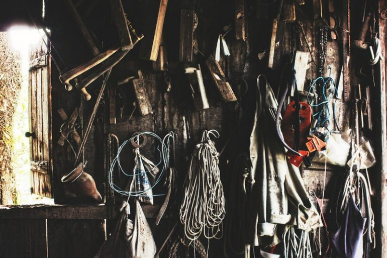 ropes and antique tools