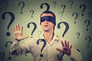 Man wearing blindfold