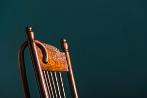 Cane over chair