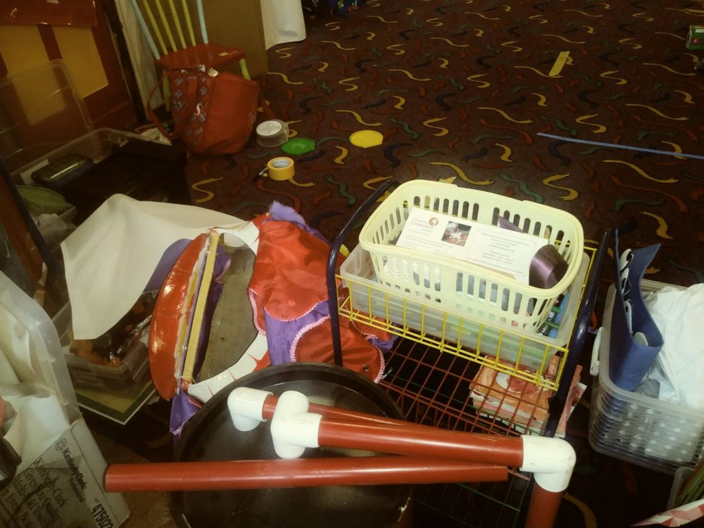 Queen Anne Cooperative Preschool closet contents