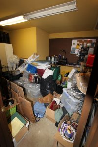Hoarded room Casual Uncluttering project