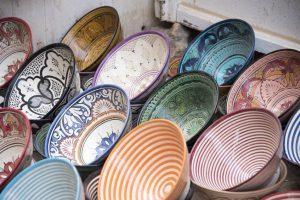 colorful Moroccan plates